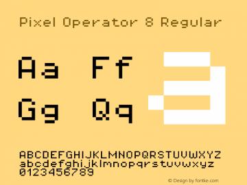 Pixel Operator 8 Regular 2016.04.25图片样张