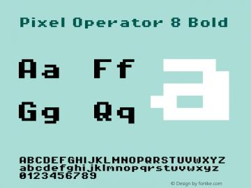 Pixel Operator 8 Bold 2016.04.25图片样张