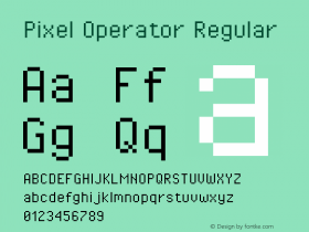 Pixel Operator Regular Version 1.4.2 (September 30, 2015)图片样张