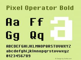 Pixel Operator Bold Version 1.4.2 (September 30, 2015)图片样张