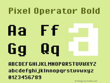 Pixel Operator Bold Version 1.4.2 (September 30, 2015)图片样张