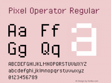 Pixel Operator Regular Version 1.5.0 (October 25, 2015)图片样张