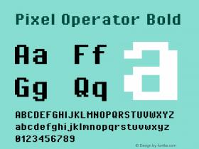 Pixel Operator Bold Version 1.5.0 (October 25, 2015)图片样张