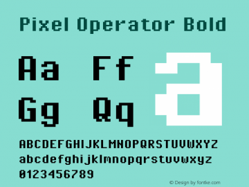 Pixel Operator Bold Version 1.5.0 (October 25, 2015)图片样张