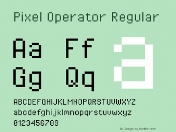 Pixel Operator Regular Version 1.4.0 (August 12, 2015)图片样张
