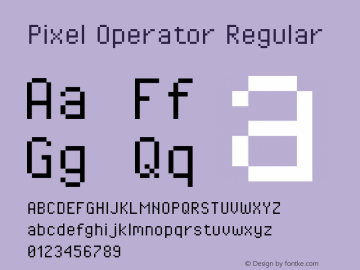 Pixel Operator Regular 2016.04.25图片样张