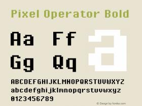 Pixel Operator Bold 2016.04.25图片样张