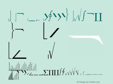 WP MathExtendedA Normal 1.0 Wed May 12 14:39:21 1993 Font Sample