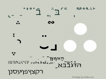 WP Hebrew David Normal 1.0 Wed May 12 14:28:59 1993 Font Sample