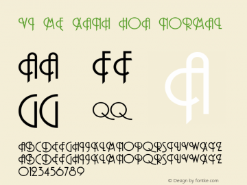 VI Me Xanh Hoa Normal VISCII 1.1 Wed Sep 22 12:01:39 1993 Font Sample
