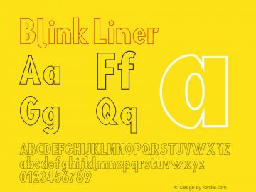Blink Liner Version 001.000 Font Sample