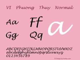 VI Phuong Thuy Normal VISCII 1.1 Fri Sep 24 08:13:56 1993 Font Sample