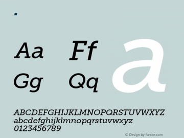 .  Version 1.000 Font Sample