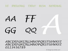 VI Phuong Thuy Hoa Normal VISCII 1.1 Fri Sep 24 08:13:56 1993 Font Sample