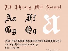 VI Phuong Mai Normal VISCII 1.1 Fri Sep 24 08:11:10 1993 Font Sample