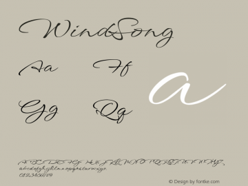 WindSong ☞ com.myfonts.easy.typesetit.windsong.regular.wfkit2.version.4oqb Font Sample