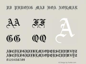 VI Phuong Mai Hoa Normal VISCII 1.1 Fri Sep 24 08:11:10 1993 Font Sample