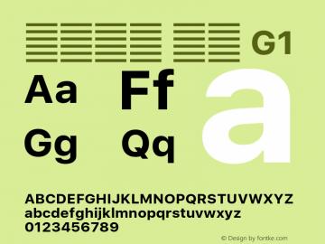 系统字体 粗体 G1 11.0d59e1 Font Sample