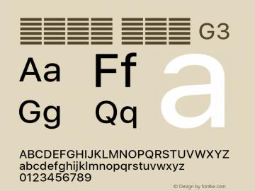 系统字体 常规体 G3 11.0d59e1 Font Sample