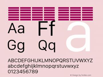 系统字体 常规体 11.0d11e2 Font Sample
