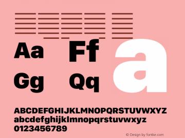 系统字体 黑 11.0d11e2 Font Sample