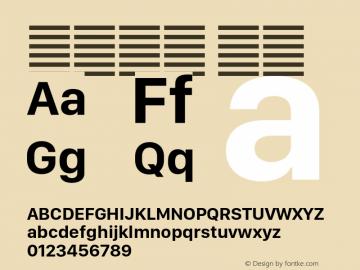 系统字体 粗体 11.0d11e2 Font Sample