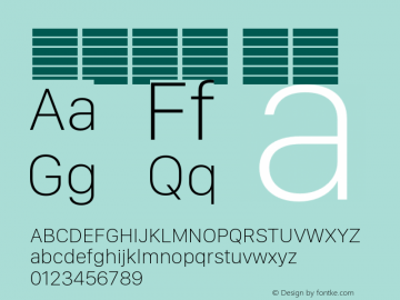 系统字体 瘦体 11.0d11e2 Font Sample