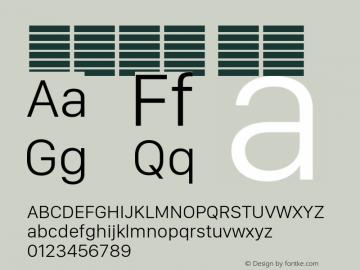 系统字体 细体 11.0d11e2 Font Sample
