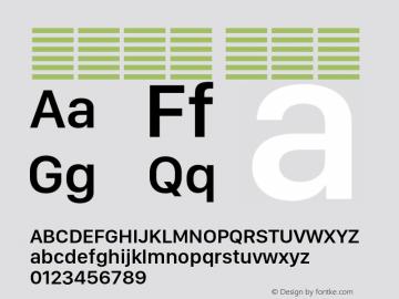 系统字体 半粗体 11.0d11e2 Font Sample