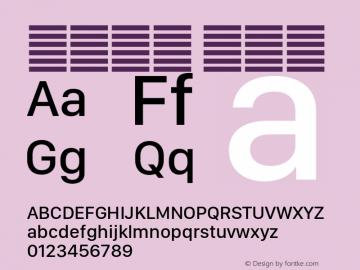 系统字体 中等体 11.0d11e2 Font Sample