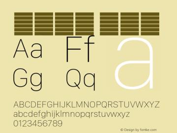系统字体 超细体 11.0d11e2 Font Sample