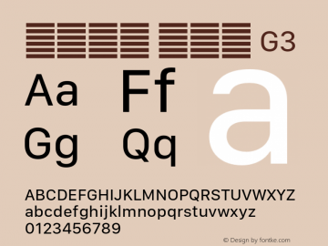 系统字体 常规体 G3 11.0d10e2 Font Sample