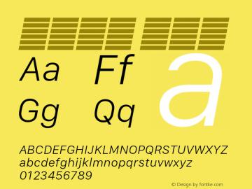 系统字体 细斜体 11.0d10e2 Font Sample