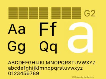 系统字体 常规体 G2 11.0d10e2 Font Sample