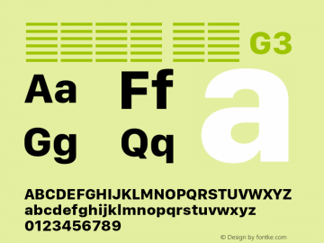 系统字体 粗体 G3 11.0d10e2 Font Sample