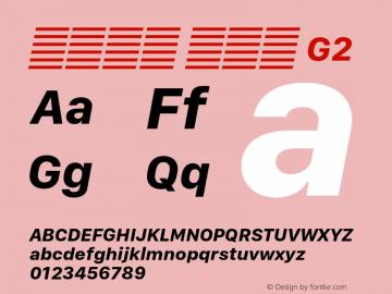 系统字体 粗斜体 G2 11.0d10e2 Font Sample