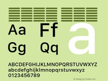 系统字体 中等体 11.0d10e2 Font Sample