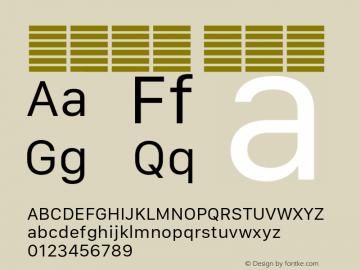 系统字体 常规体 11.0d10e2 Font Sample