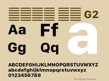 系统字体 粗体 G2 11.0d10e2 Font Sample