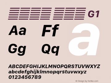 系统字体 粗斜体 G1 11.0d10e2 Font Sample