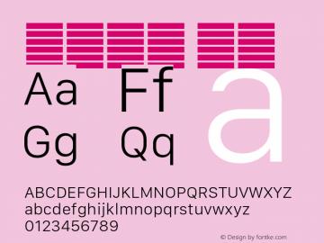 系统字体 细体 11.0d10e2 Font Sample