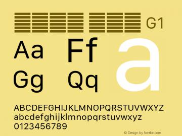 系统字体 常规体 G1 11.0d10e2 Font Sample