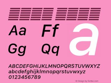 系统字体 中等斜体 11.0d10e2 Font Sample