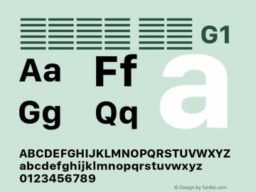 系统字体 粗体 G1 11.0d10e2 Font Sample
