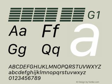 系统字体 斜体 G1 11.0d10e2 Font Sample