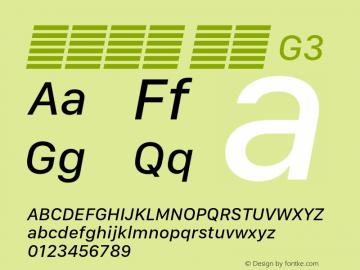 系统字体 斜体 G3 11.0d10e2 Font Sample