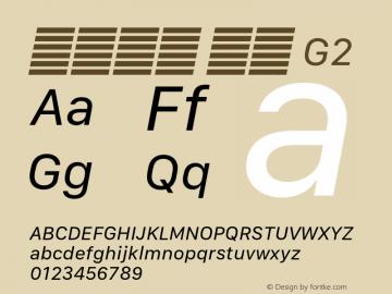 系统字体 斜体 G2 11.0d10e2 Font Sample