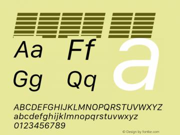 系统字体 斜体 11.0d10e2 Font Sample