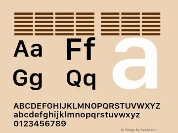 系统字体 半粗体 11.0d10e2 Font Sample