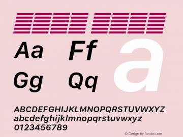 系统字体 半粗斜体 11.0d10e2 Font Sample
